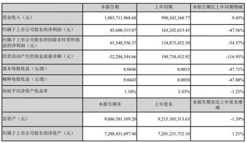 四维图新上半年实现净利润8560万元 同比减少47.56%